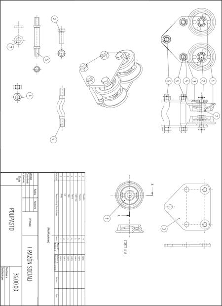 Boceto técnico de un prototipo
